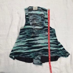 Pins & Needles Tops - Navy and teal stripped tank top